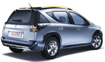 Bas�e sur la Peugeot 207 SW, le concept-car Peugeot 207 SW Outdoor annonce fid�lement la d�clinaison